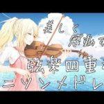 【作業用BGM】美しく感動するFULLアニソンメドレー~弦楽四重奏~